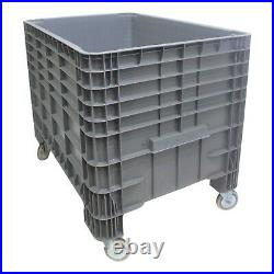 NEW Strong Plastic Euro Pallet Storage Box Boxes 1200x800x800mm Static or Mobile