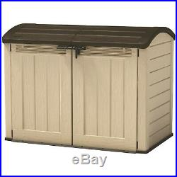 New Boxed Keter Store it Out Ultra Garden Storage Beige & Brown 2000L