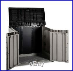 Olsen & Smith Outdoor Garden Storage Box Shed Bin Store Front Door Access 842L