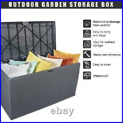 Oshion Garden Storage Box Waterproof Outdoor Utility Cushion Tool Chest 450L UK