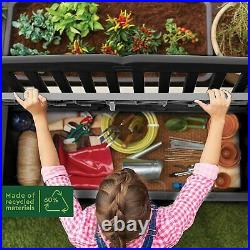Outdoor Bench Storage Box Patio Park Garden Seating Furniture Keter Porch Seat