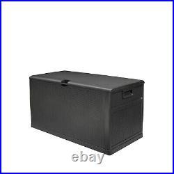 Outdoor Garden Plastic Storage Utility Chest Cushion Shed Box 460L Kids Children