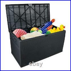 Outdoor Garden Storage Box Patio Chest Plastic Lid Container Cargobox 450 Litre