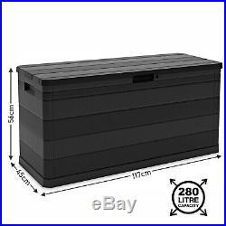 Outdoor Garden Storage Box Plastic Cushion Shed Box 90/120/270/280/550/640/842L