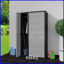 Outdoor Garden Utility Cabinet Plastic Storage Shelves Unit Box Case Cupboard UK