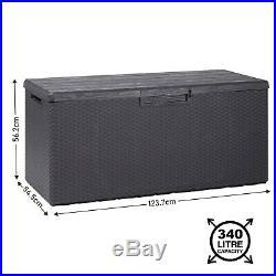 Outdoor/Indoor Storage Cushion Box 90-340L Garden Chest Plastic Furniture