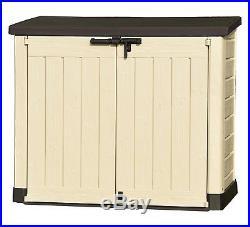 Outdoor Plastic Garden Storage Shed Bin Box Bikes Lawn Mower Container 1200 litr