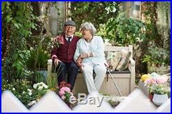 Outdoor Storage Bench Garden Patio Furniture Container 265 Litre Sofa Seat Box