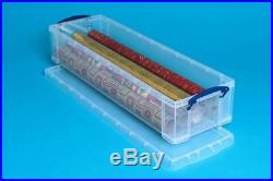 PACK OF 10 Really Useful 22 Litre Clear Plastic Storage Box DVD wrapping paper