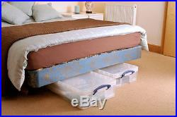 PACK OF 10 Really Useful 33 Litre Boxes Under bed, CD DVD Clear Storage Box