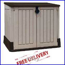 PLASTIC SHED Garden Storage Outdoor Container Patio Chest Keter Box Lockable
