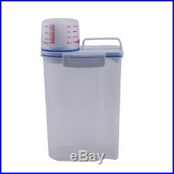 Pack of 4 Cereal Dispenser Storage Box Kitchen Food Grain Food Rice Container 2L