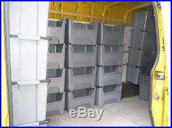 Pallet Racking Plastic Storage Bins Boxes With Scooped Front X 20