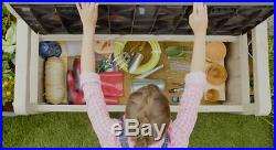 Patio Bench Seat Outdoor Storage Box Garden Furniture Plastic Utility Chest UK