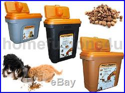 Pet Food Storage Container Plastic Bin Dog Cat Bird Dry Feed Box 8kg, 15kg, 28kg