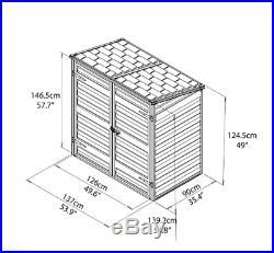 Plastic Garden Outdoor Storage Box Shed Durable Wheelie Bins Bike Tool Shed