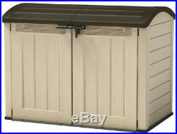 Plastic Garden Storage Box Keter Woodland XXL 5ft8 x 3ft7 Bike/Tool Shed 2000L