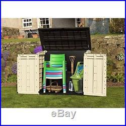 Plastic Garden Storage Cupboard Shed Box Cabinet Large Unit Outdoor Waterproof
