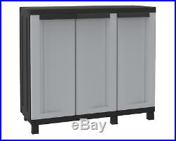Premium Extra Wide Outdoor Garden Patio Storage Box Cabinet Cupboard Unit Shed