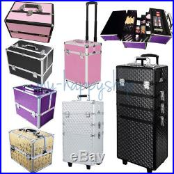 Professional Makeup Trolley Case Cosmetic Box Beauty Hairdressing Vanity Storage