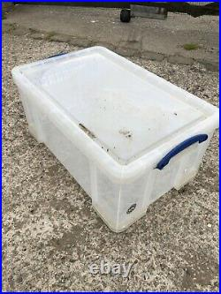 Really Useful Box 64 Litre Storage Moving Tubs House Clearance Job Lot Of 30