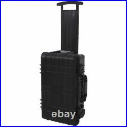 Rolling Trolley Tool Equipment Box Travel Storage Hard Case withPick Pluck Wheel