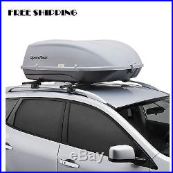 Roof Cargo Box Car Top Carrier Mount Travel Storage Luggage Rack Hard Shell