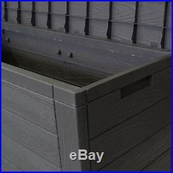 Small Storage Deck Utility Plastic Box Unit Cupboard Outdoor Patio Garden Shed