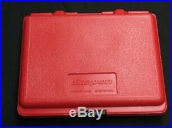 Snap On 31 Piece 1/4 Drive Metric 6-point Socket Set Plastic Storage Box