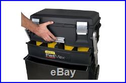 Stanley Tool Box Cantilever Rolling Mobile Storage Workshop Chest Work Center  sc 1 st  Plastic Storage Boxes & Plastic Storage Boxes » Blog Archive » Stanley Tool Box Cantilever ...