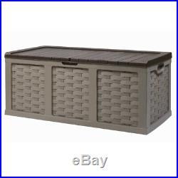 Starplast 634 Litre XXL Rattan Garden Storage Box