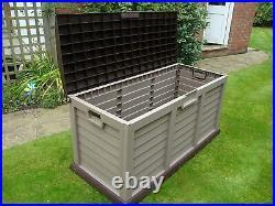 Starplast Outdoor Garden Storage Chest Cushion Box Waterproof 440L Sit On Lid
