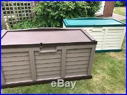 Starplast Outdoor Garden Storage Utility Chest Cushion Box Case 440L Sit-On Lid