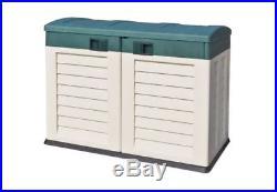 Starplast Plastic Garden Shed Box Chest Weatherproof Storage Fits 2 Wheelie Bins