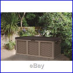 Starplast Rattan Style Garden Storage Box Extra Large 158cm x 64cm x 75cm