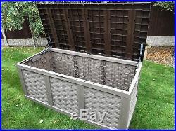 Starplast XXL Huge Plastic 634 ltr Garden Storage Box With Piston Opening Lid