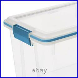 Sterilite 19324306 20 Quart Storage Container Box Tote with Latches (12 Pack)