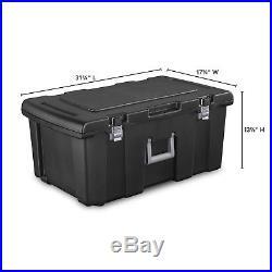 Storage Box Footlocker Dorm Home Organizer Bin Container Wheels Lock Portable
