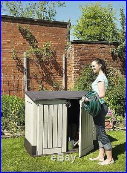Storage Box Plastic Garden Yard Wheelie Patio Bike Outdoor Shed Bins BBQ Large