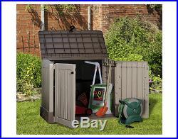 Storage Box Plastic Garden Yard Wheelie Patio Bike Outdoor Shed Bins BBQ Midi