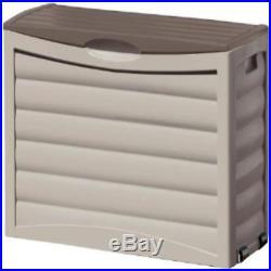 Suncast 63-Gallon Classic Decorative Deck Box Storage For outdoor patio Graden