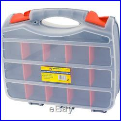 Tool Box Bits 2 Sided Storage Organiser 30 Compartments Case Screws Diy Assorted