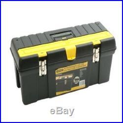 "Stanley DIY Storage Tools Heavy Duty Metal Plastic Tool Box Tote Tray 26/"" Handle"