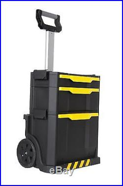Tool Storage Rolling Box Chest Mobile Portable Toolbox Work Cart Wheels Stanley