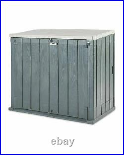 Toomax Garden Storage Box Shed Bin Store 1270L 2 Door Front Access Trusted UK