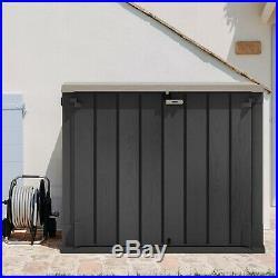 Toomax Outdoor Garden Storage Box Shed 240L Bin Store 2 Door Front Access 1270L