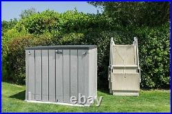 Toomax Storaway 1270L Wood Effect Garden Storage Box Grey