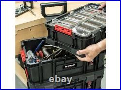 Trend MS/C/SET3C 3pc Compact Modular Storage Cart Set Tool Box System