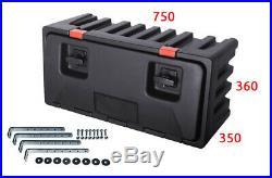 Underbody Truck Storage Box Plastic Tool Box LAGO Black Dog 750x360x350+BRACKETS