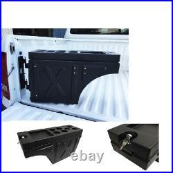 Ute Tub Storage Box Side Universal Tool Box Lockable a Pair Trailer Black